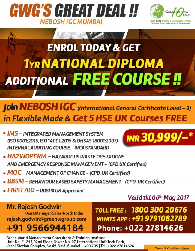NEBOSH International Diploma - IDip