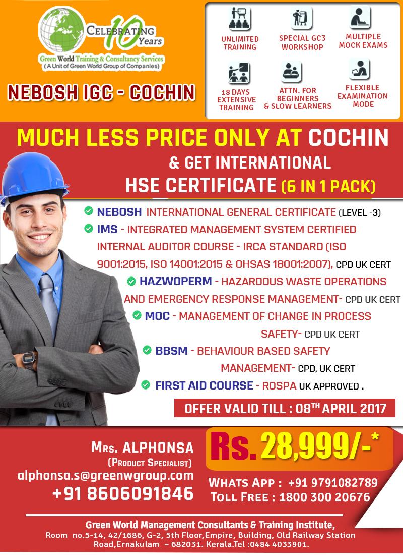 NEBOSH IGC Cochin Mar