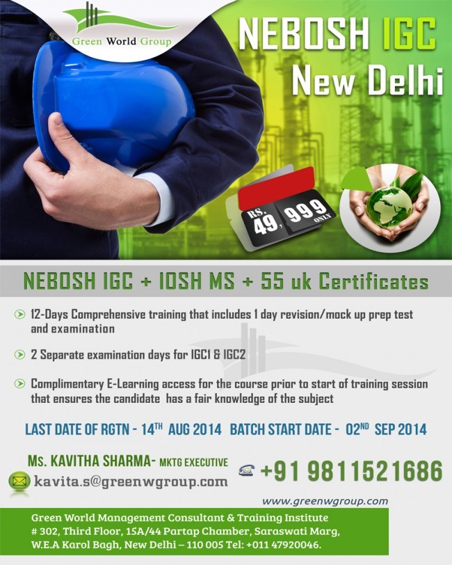 Nebosh training in Delhi