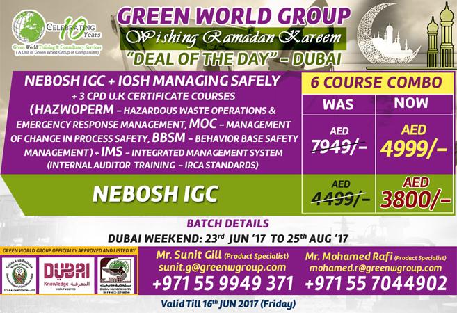 NEBOSH IGC Weekend Class At Abu Dhabi
