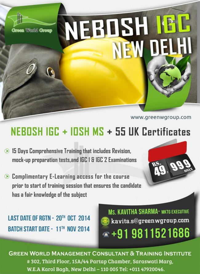 Nebosh course in Delhi