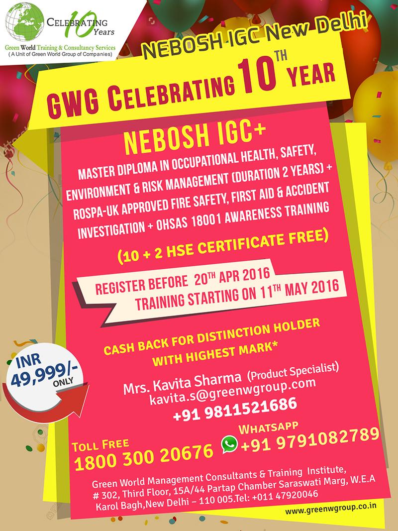 NEBOSH-IGC_New-Delhi_10th-year