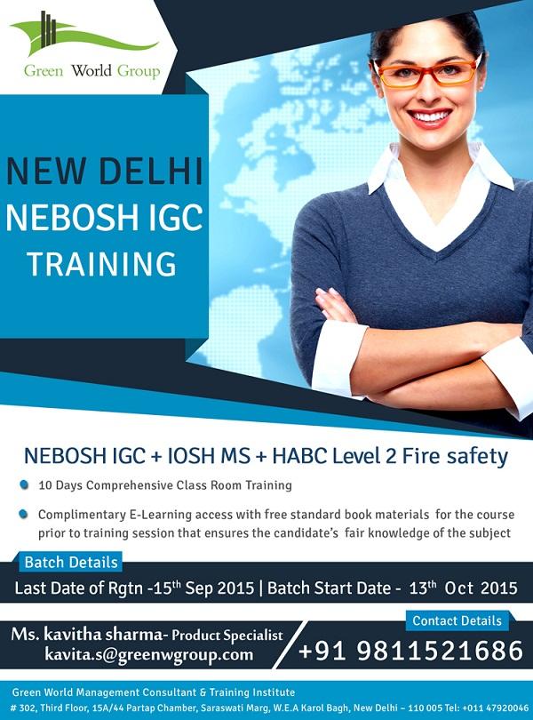 NEBOSH Course in New Delhi