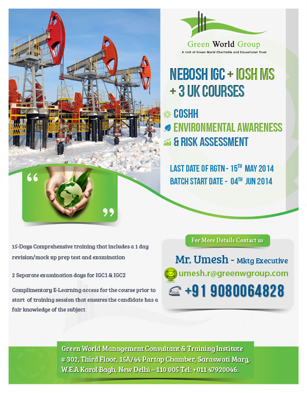 Nebosh course in New Delhi