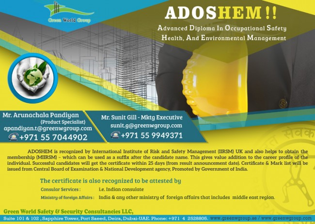 ADOSHEM course in Dubai