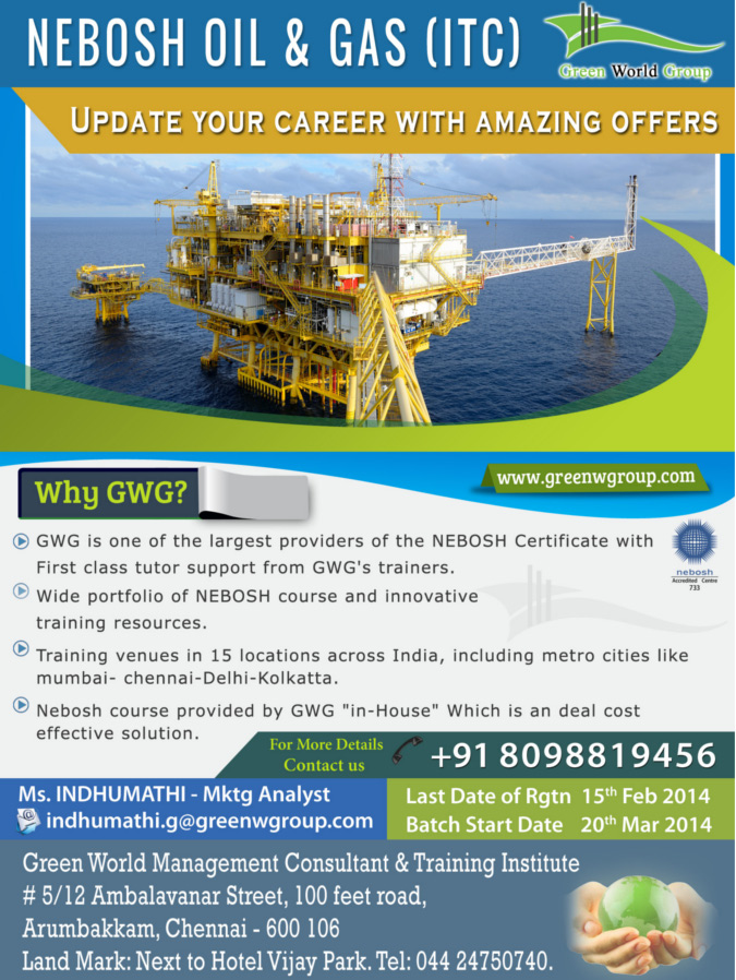 Nebosh Oil And Gas Training In Chennai