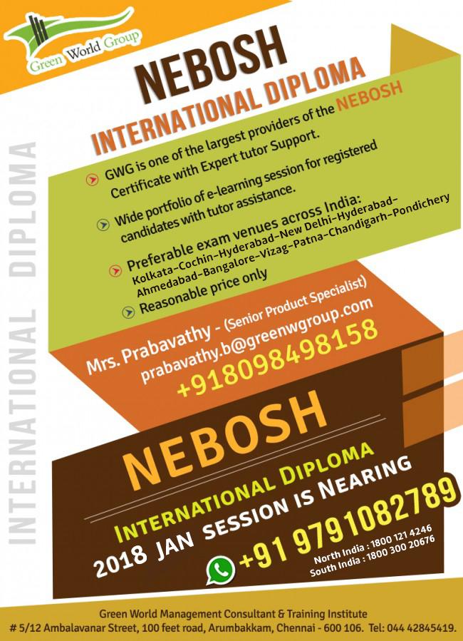 Nebosh International Diploma IDIP In India
