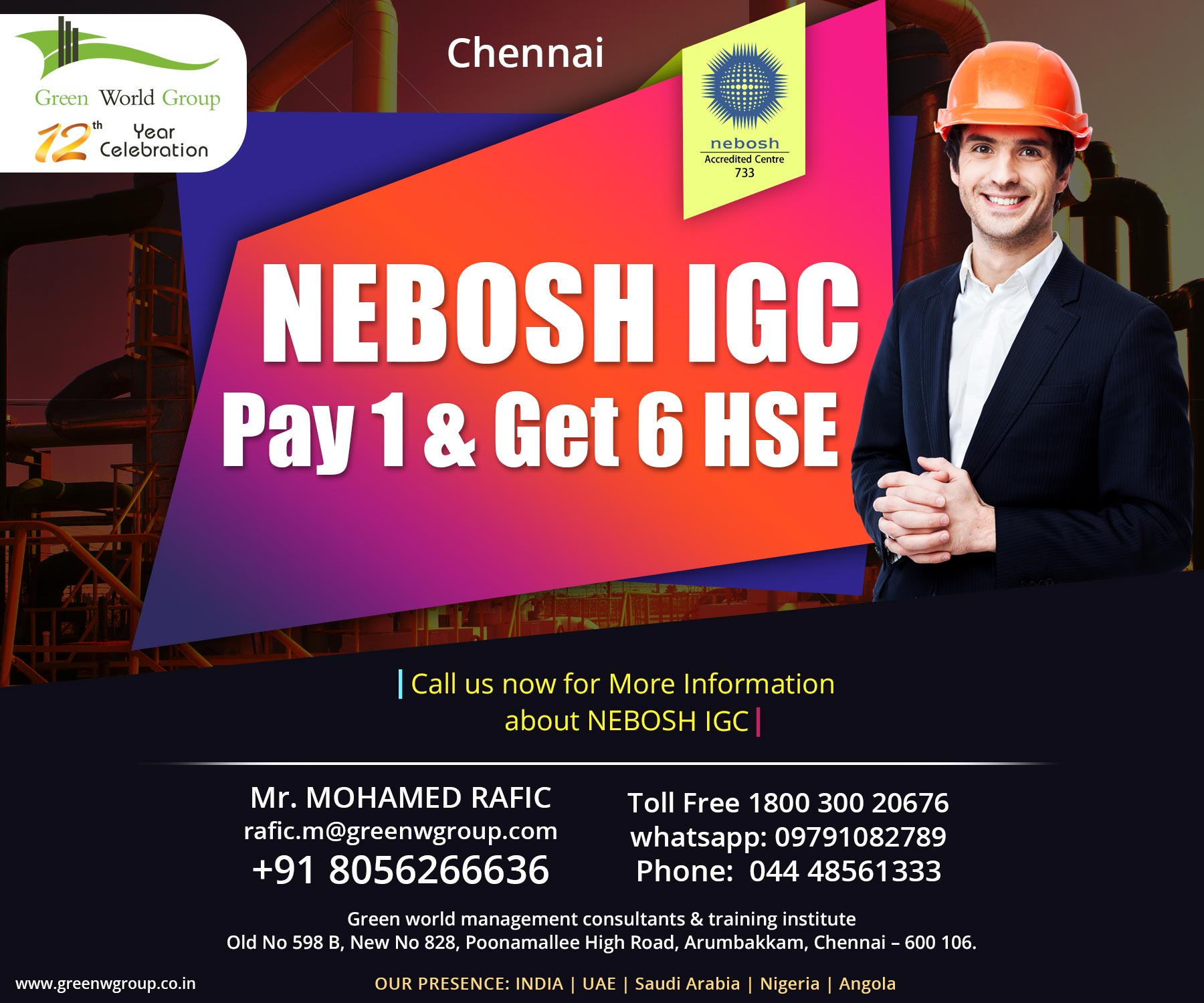 Nebosh Course Qualification Nebosh Safety Course In Chennai Jobs