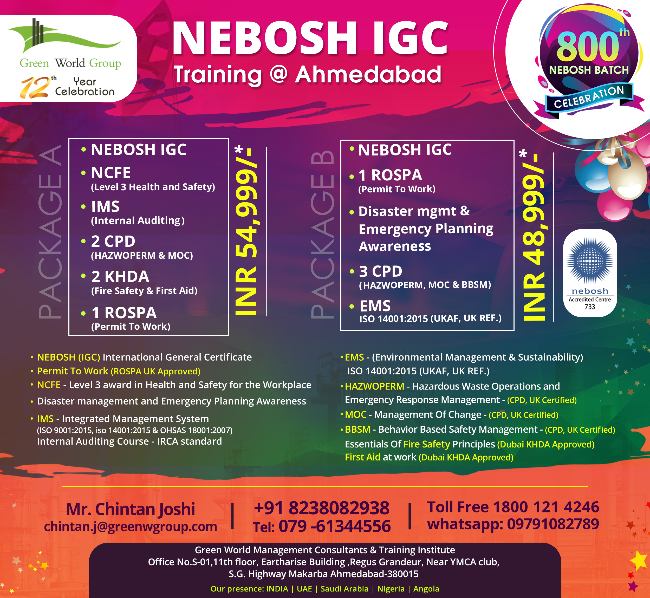 NEBOSH-IGC_800th_Batch_Ahmedabad
