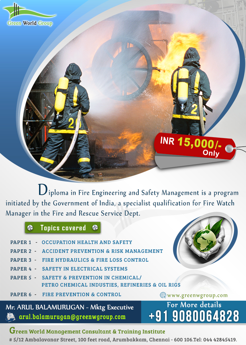 Diploma in Fire engineering & Safety Management in Dubai
