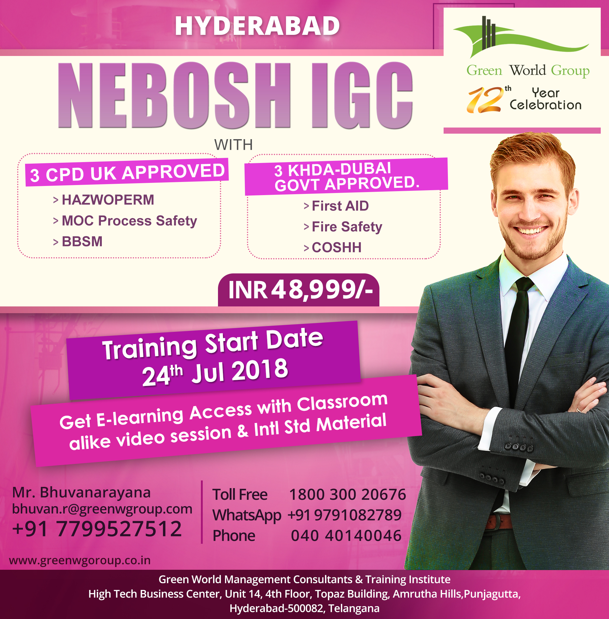 Gwg Offers For Nebosh Course In Hyderabad