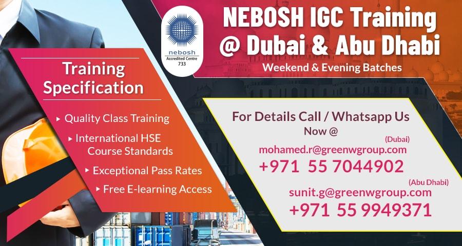 NEBOSH in UAE