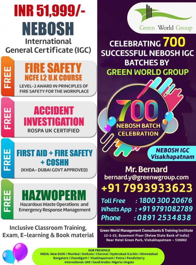 NEBOSH_IGC_700_batch_Celebration_Vizag