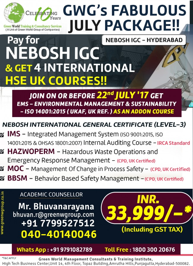Nebosh Course In Vizag With Valuable Offer