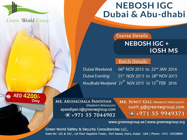 NEBOSH Course Dubai and Abu Dhabi