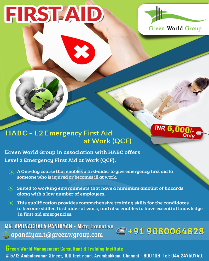 Gwg S First Aid Training Course Offer At Chennai
