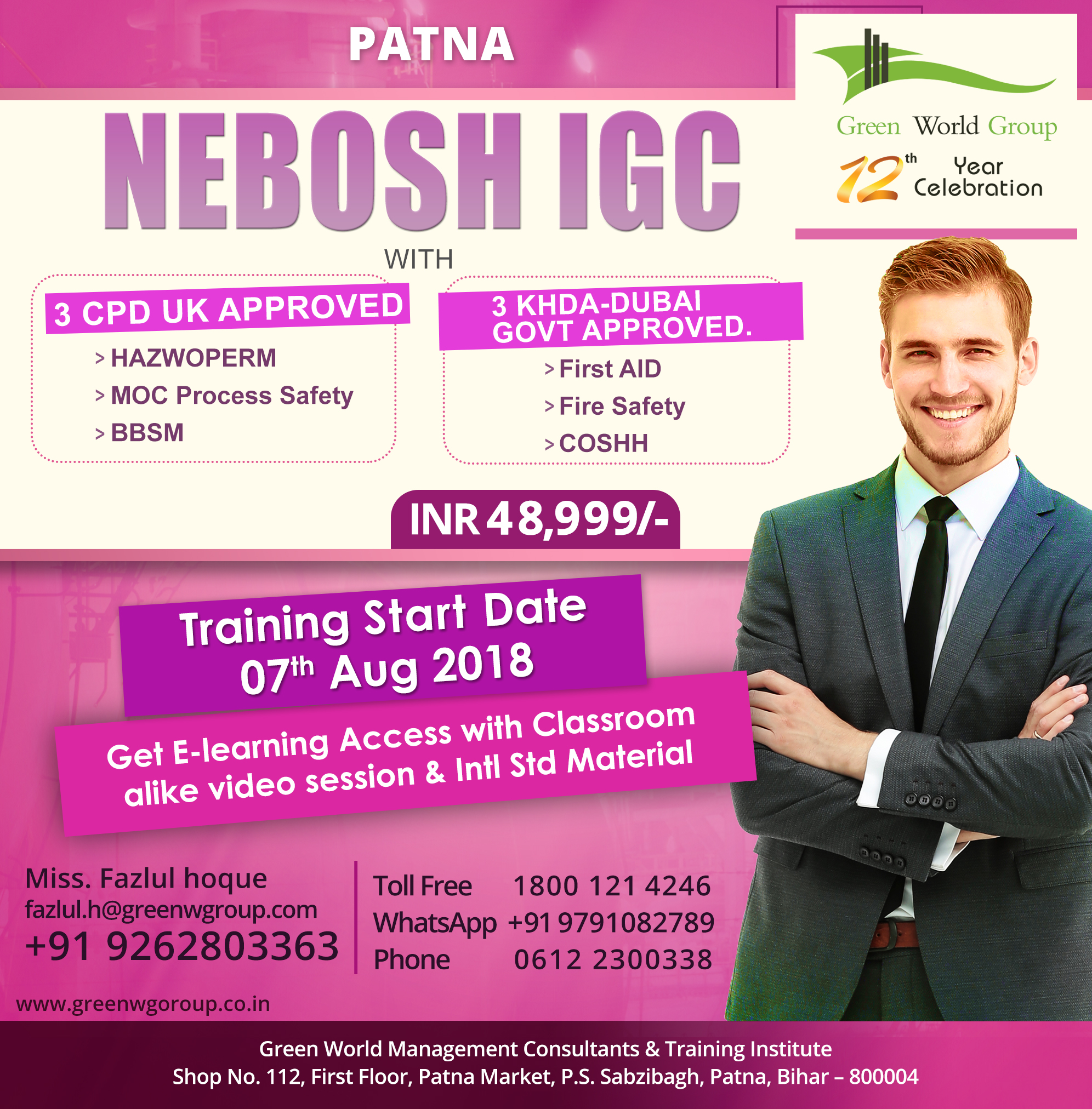 NEBOSH-IGC course in Patna