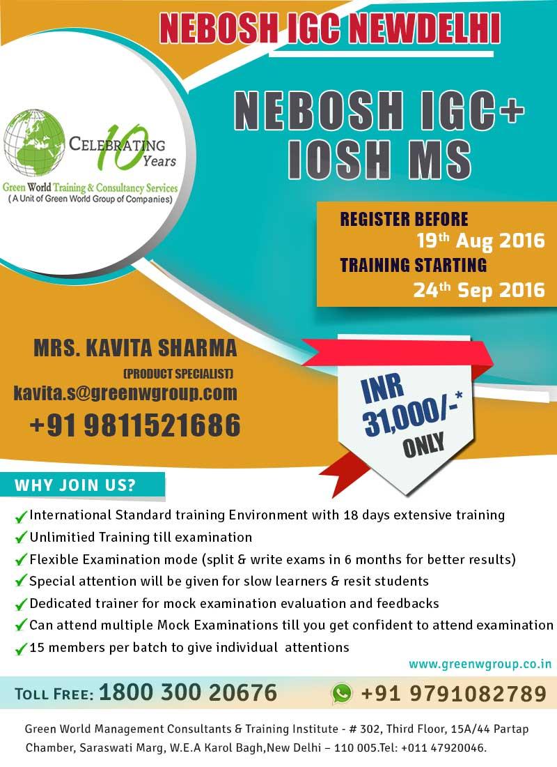 NEBOSH IGC course in Delhi