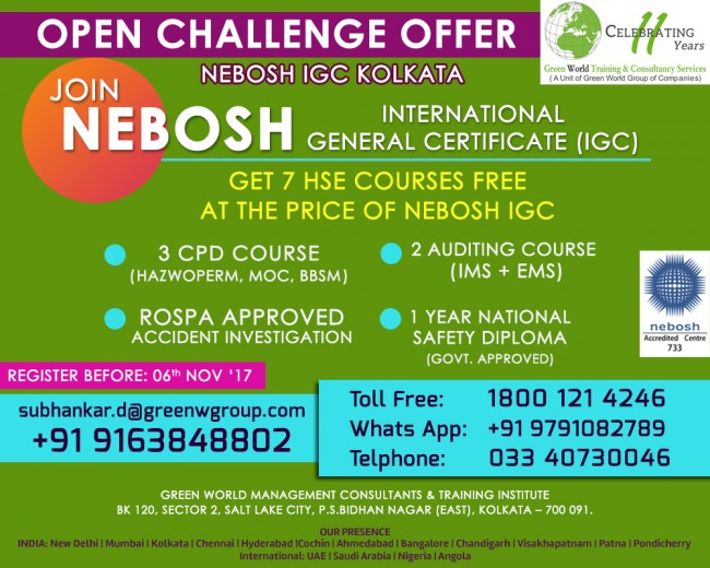 Special Combo Offer For Nebosh Course In Kolkata