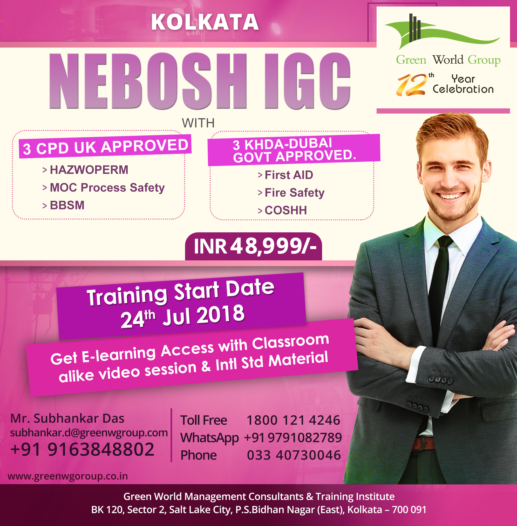 NEBOSH-IGC course in Kolkata