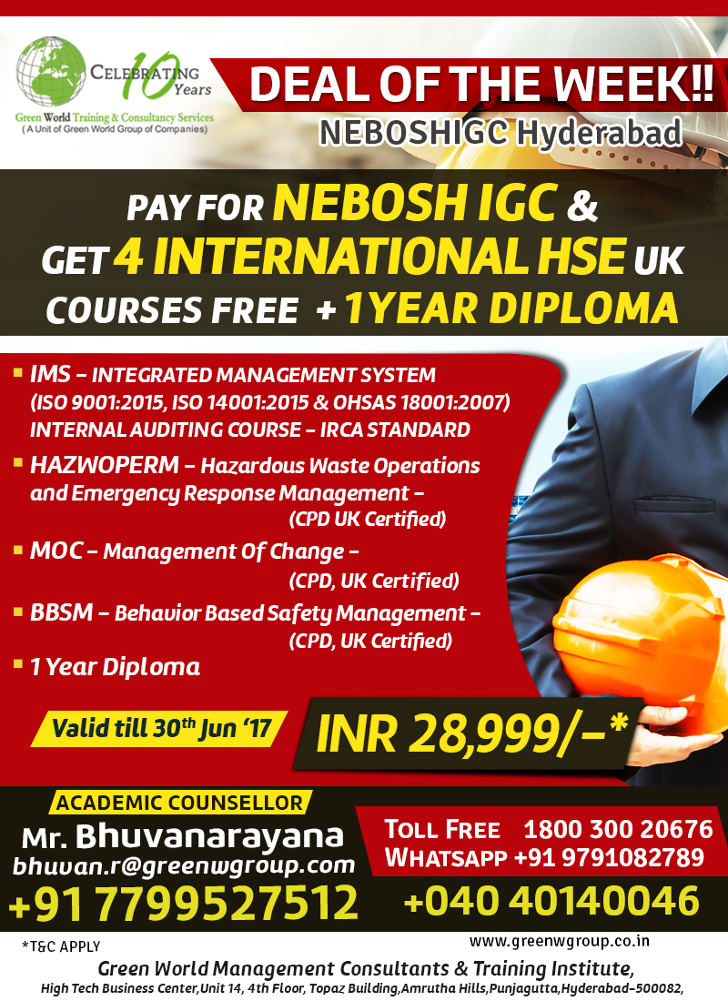 Nebosh Course In Vizag Only At Your Green World Group