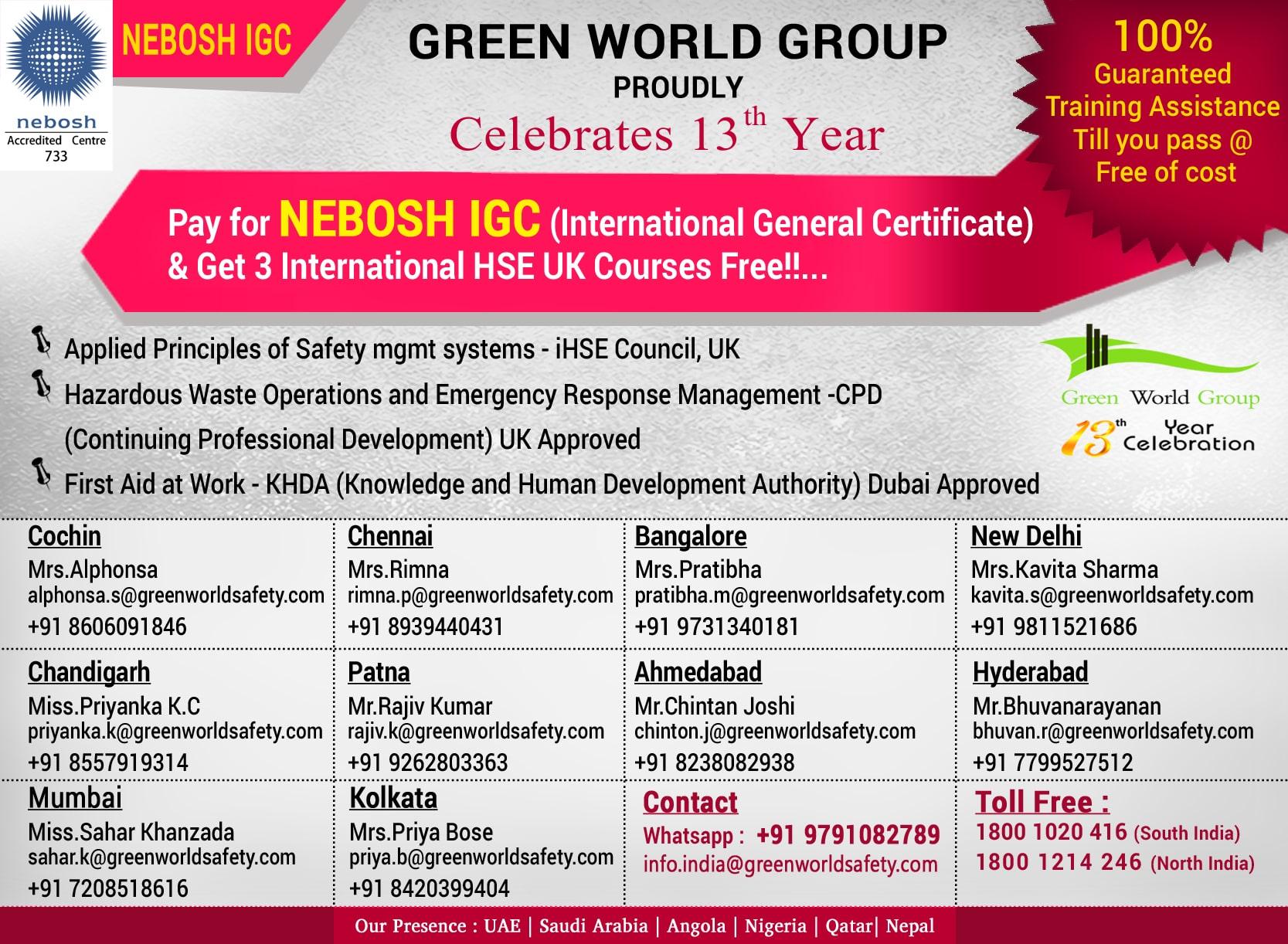 NEBOSH-IGC-India