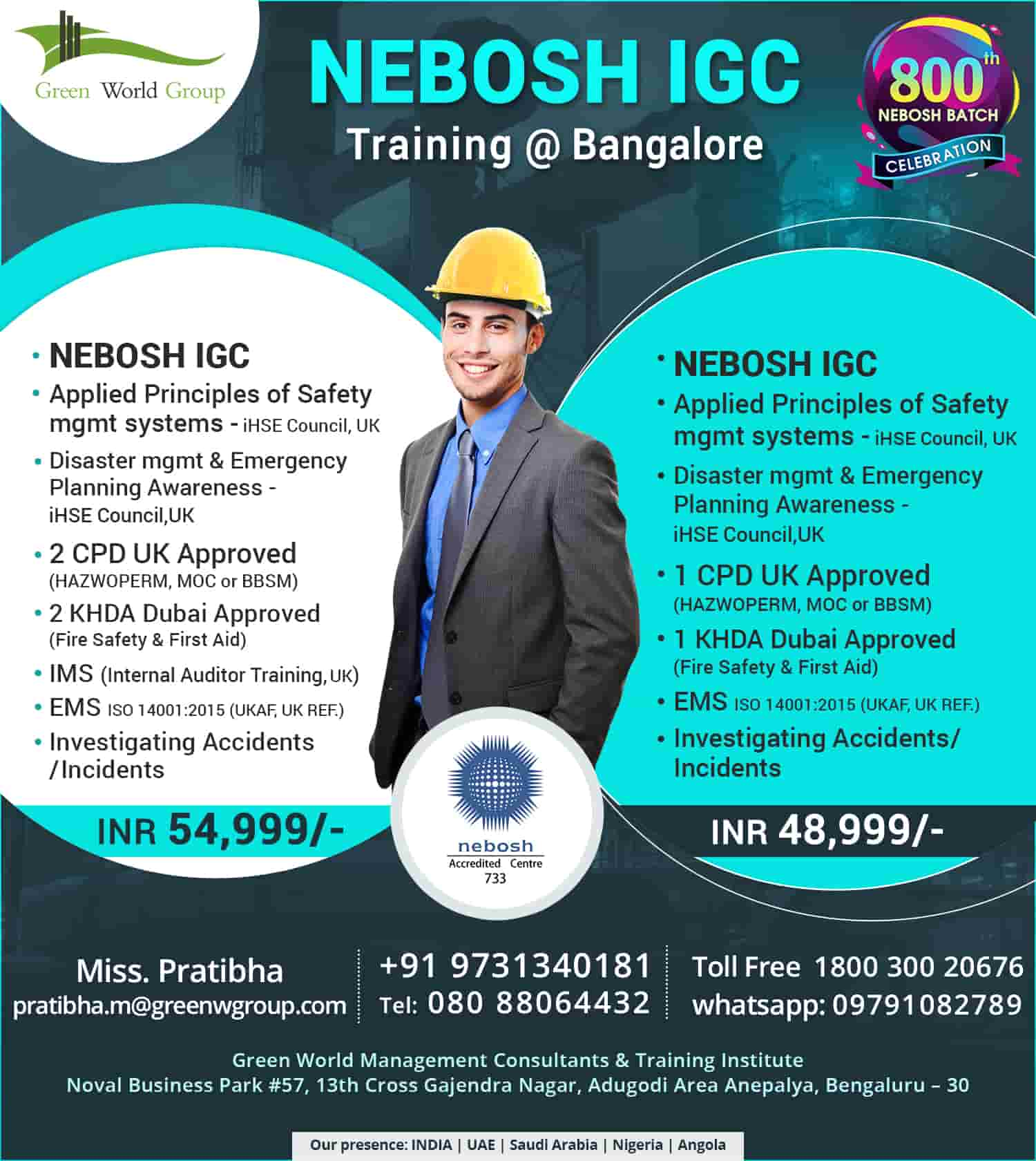 Health and safety training course | NEBOSH-IGC_Course_Bangalore