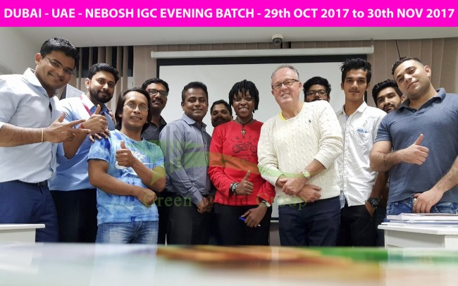 GWG - DUBAI (UAE) NEBOSH IGC - DXB EVENING BATCH - 29th OCT 2017 TO 30th NOV 2017 - AT GWG DUBAI -