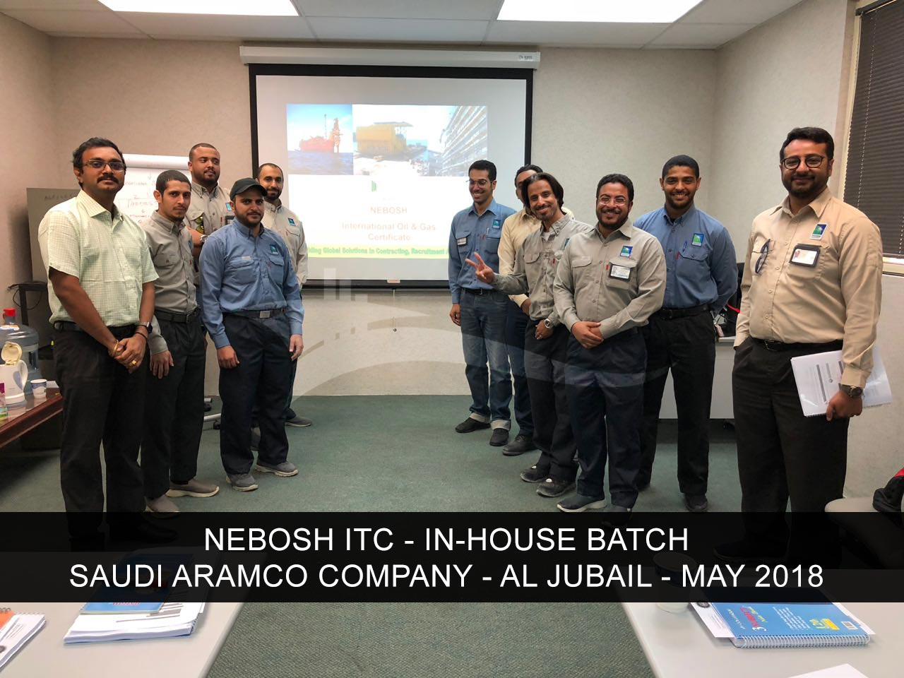 Nebosh Itc In House Training At Saudi Aramco Company Jubail Ksa