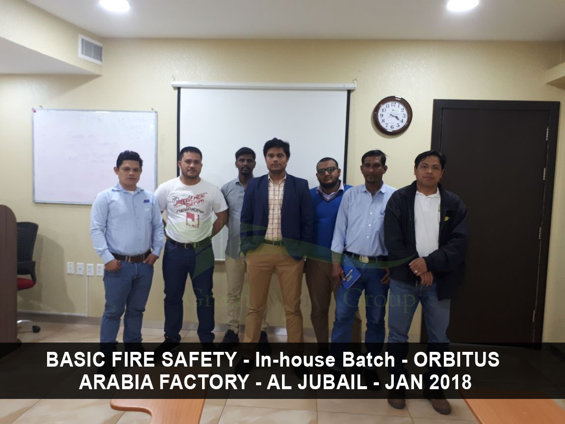 Basic Fire Safety In House Training At Orbitus Arabia Factory Jubail