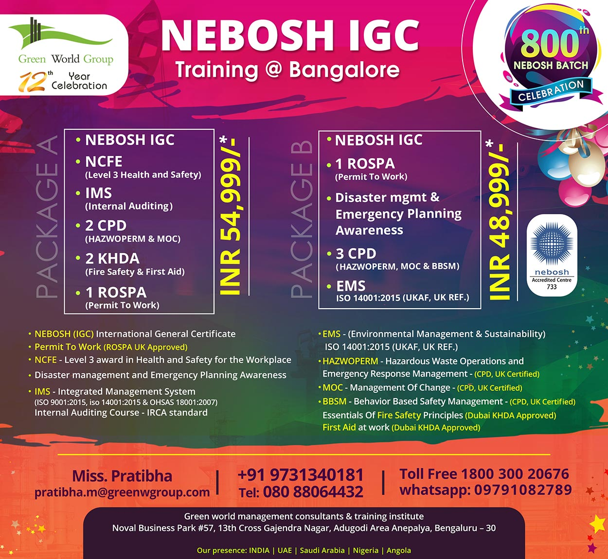 Health and safety training course | NEBOSH-IGC_Course_Bangalore