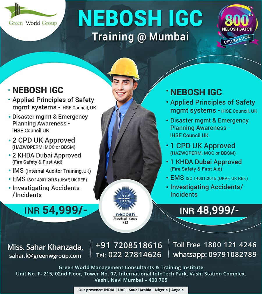 Nebosh Igc Course In Mumbai Safety Training In Mumbai Hse Mumbai