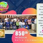 Nebosh IGC 850th Batch Celebration Dubai