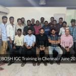NEBOSH IGC - Chennai - June 2019