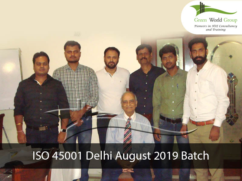 ISO 45001 Delhi August 2019 Batch