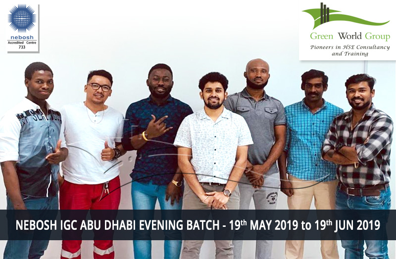 NEBOSH IGC ABU DHABI EVENING BATCH - 19th MAY 2019 to 19th JUN 2019