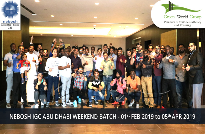 NEBOSH IGC ABU DHABI WEEKEND BATCH - 01st FEB 2019 to 05th APR 2019