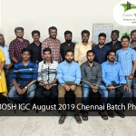 NEBOSH IGC August 2019 Chennai Batch Photo