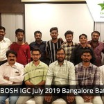 NEBOSH IGC July 2019 Bangalore Batch