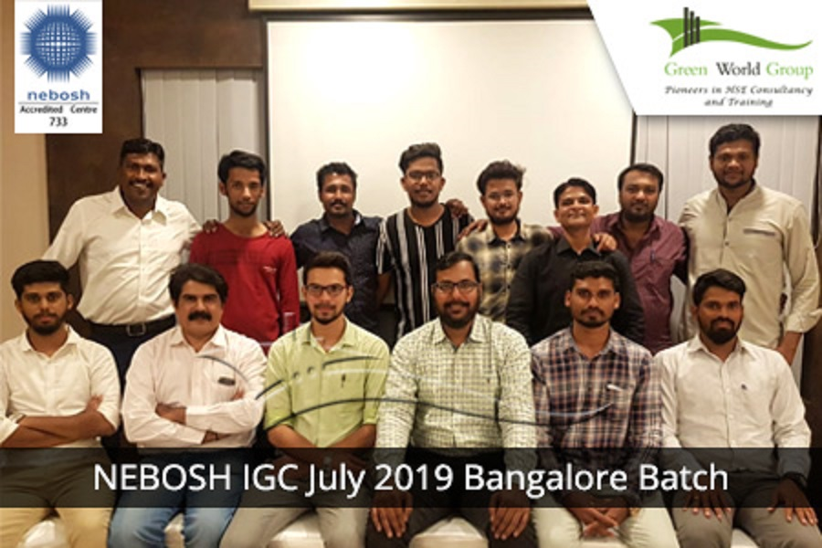 NEBOSH IGC July 2019 Bangalore Batch