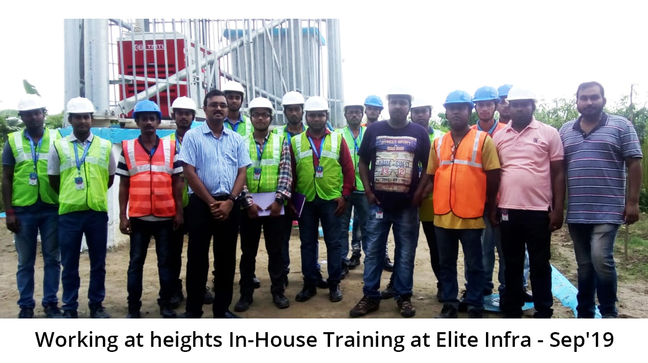 Working at heights In-House Training at Elite Infra - Sep'19
