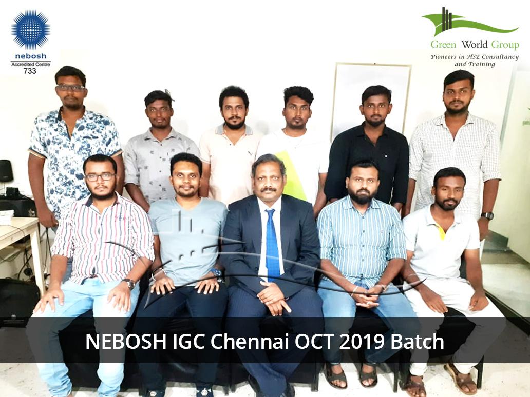 NEBOSH IGC Chennai OCT 2019 Batch