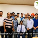 NEBOSH IGC Delhi Sep 2019 Batch photo