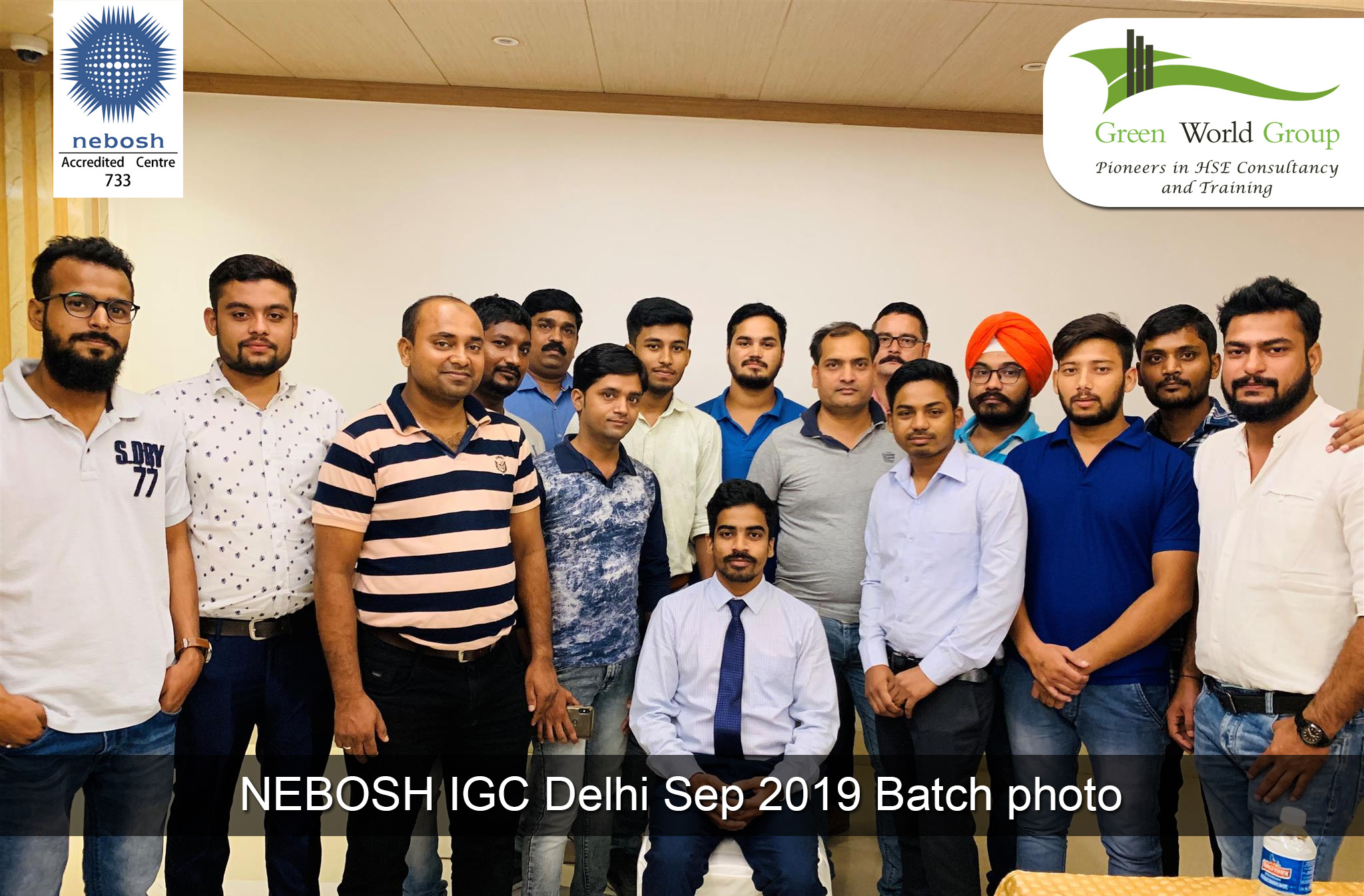 NEBOSH IGC Delhi Sep 2019 Batch photo