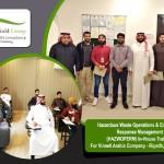 Hazardous Waste Operations & Emergency Response Management (HAZWOPERM) In-House Training For Vinnell Arabia Company - Riyadh, Saudi Arabia