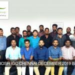 NEBOSH IGC CHENNAI DECEMBER 2019 Batch