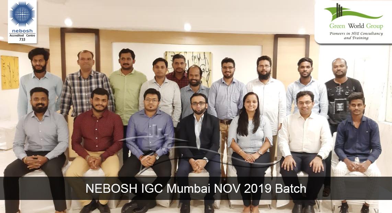NEBOSH IGC Mumbai NOV 2019 Batch