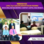 Nebosh IGC In-House Training for Bohai Drilling Engineering Company