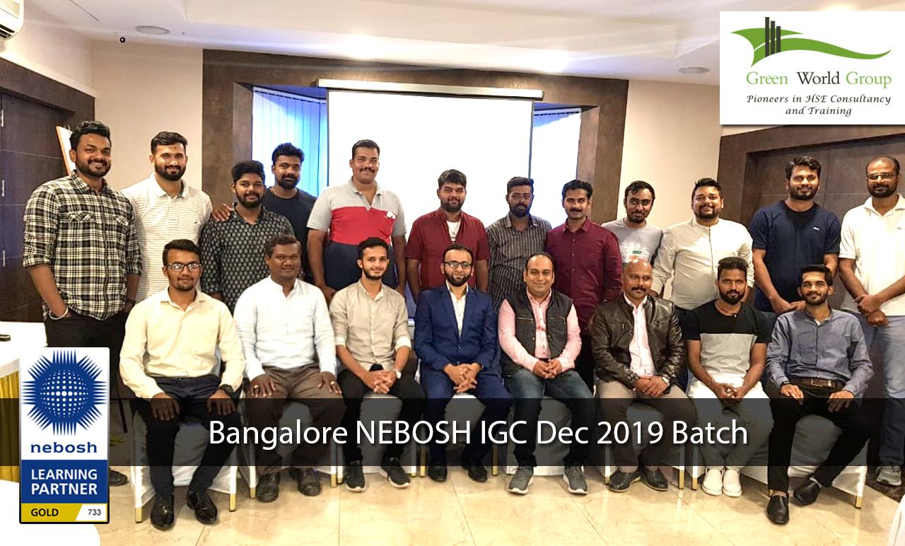 Bangalore Nebosh IGC Dec 2019 Batch