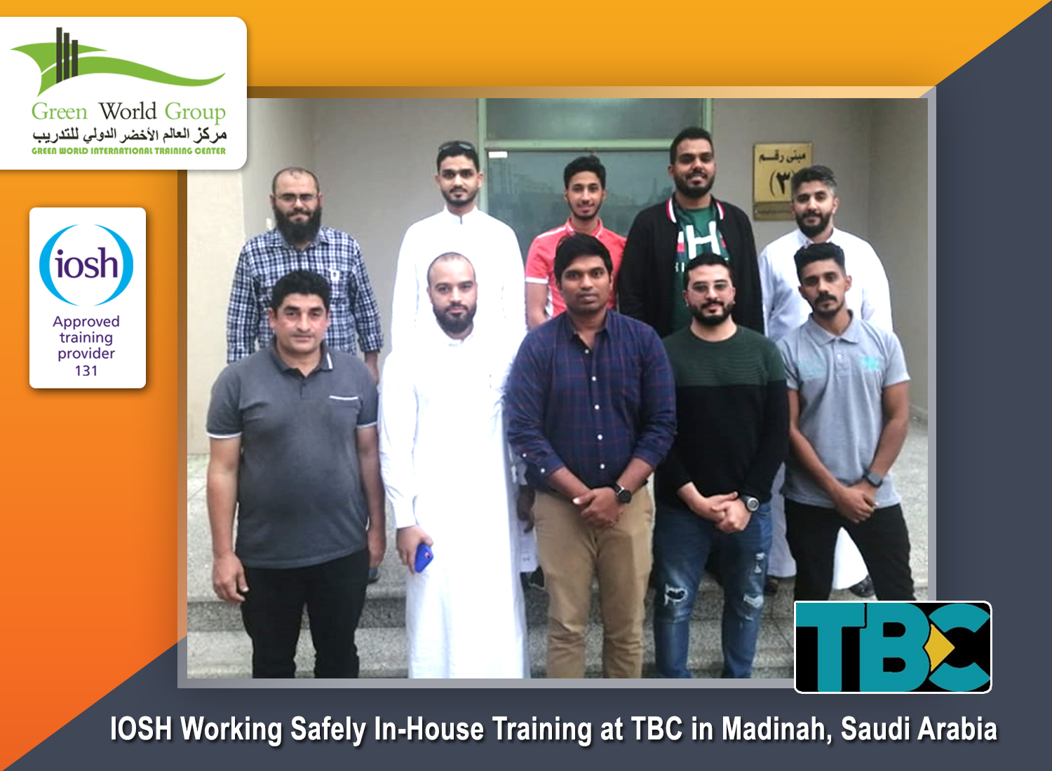 IOSH In-House Training Course at TBC in Madinah,Saudi Arabia